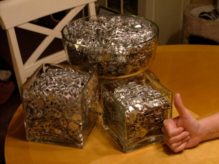 1 year's worth of pop tabs