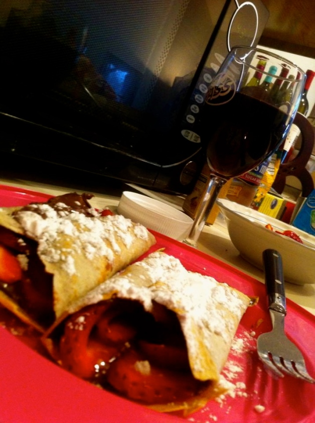 Strawberry-Nutella Crepes