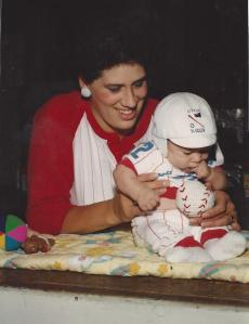 kyle & mom baseball