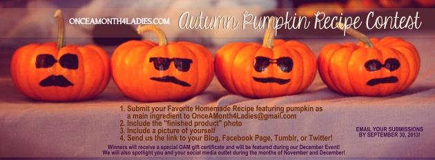OAM Autumn Pumpkin Recipe Contest