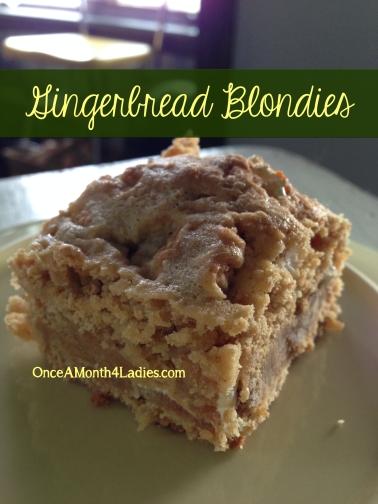 Gingerbread Blondies