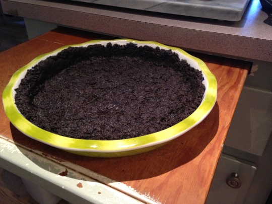 Chocolate cookie crust